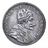 Moneta collezione Piastra Vaticano 1675 Papa Clemente X Porta Santa chiusa